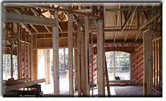 interior framing, insulation board